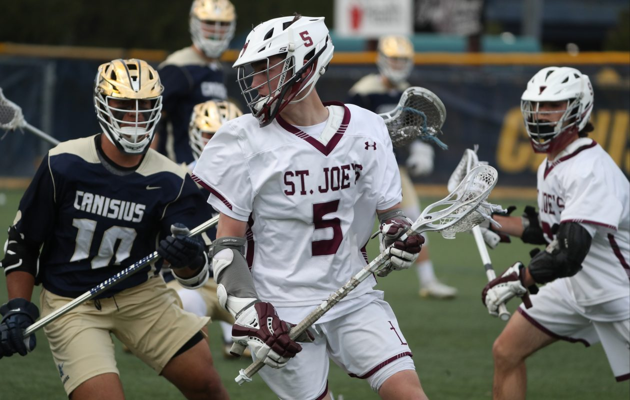 St. Joe's Trey Gehen had five goals for the Marauders in Wednesday's win over Canisius. (James P. McCoy/Buffalo News)