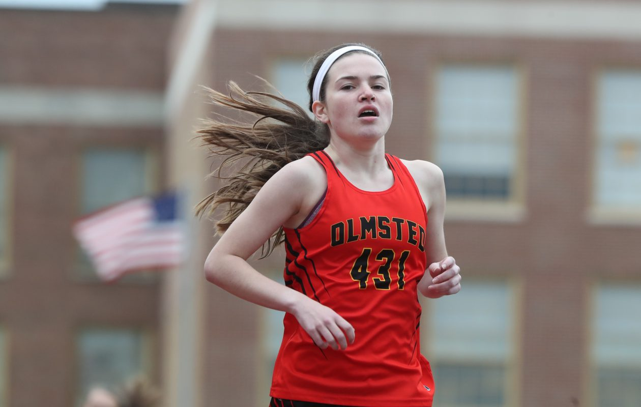 Olmsted's Grine completes distance double at All-High meet