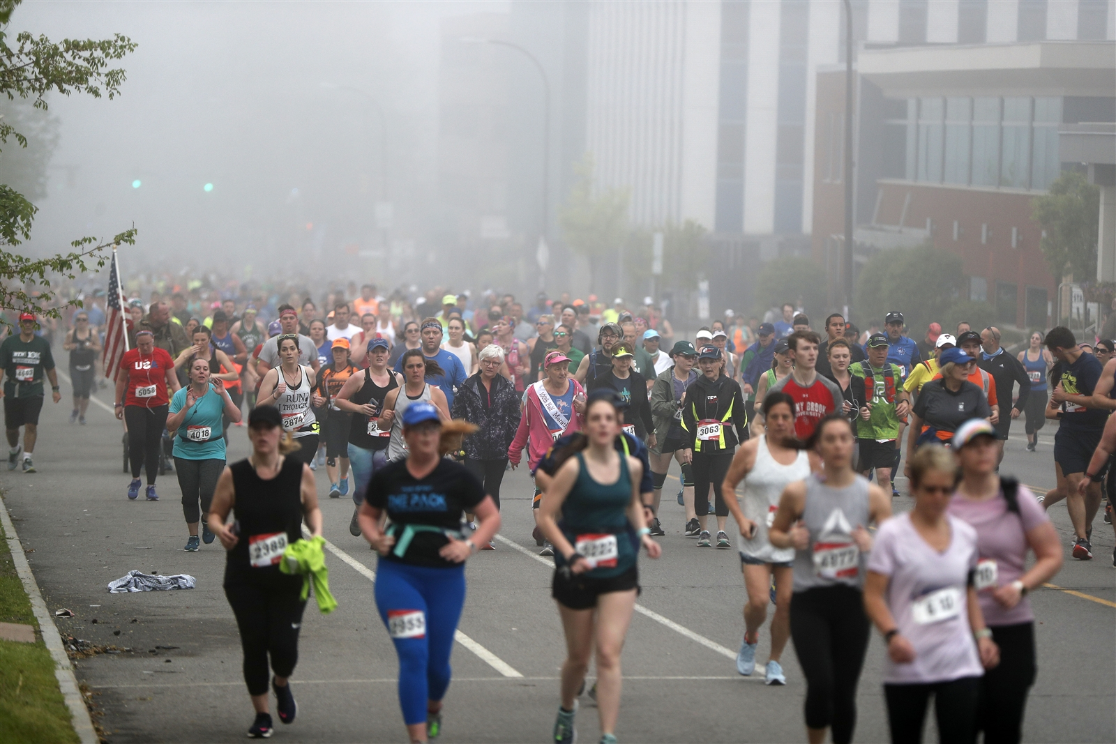 Runners headed through the streets of Buffalo during the 2019 Buffalo Marathon on Sunday, May 26.