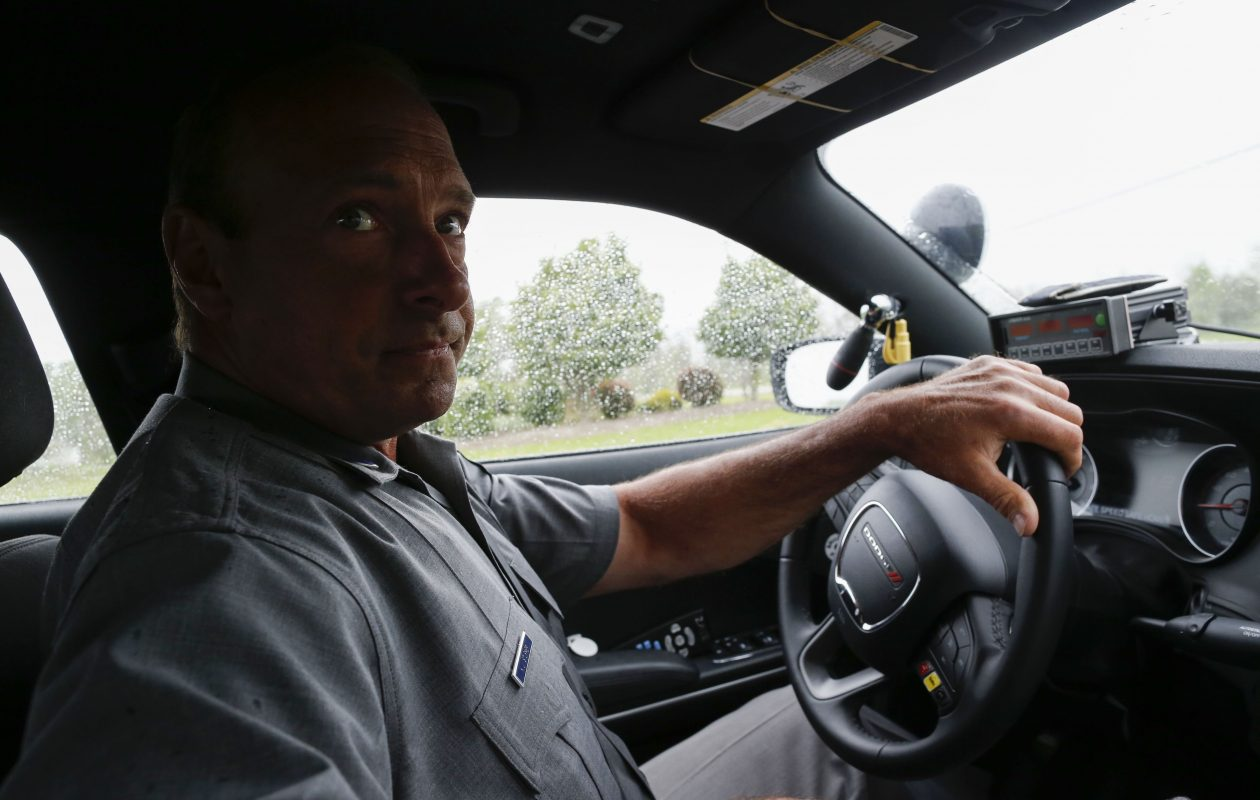 New York State Trooper Kevin Sturmer patrols in Clarence, Wednesday, May 29, 2019. Sturmer has received special training as a drug recognition expert. (Derek Gee/Buffalo News)
