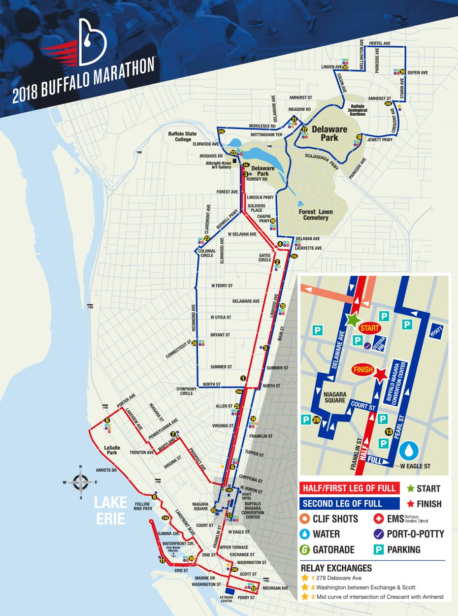 2019 Buffalo Marathon: The race route, road closures and