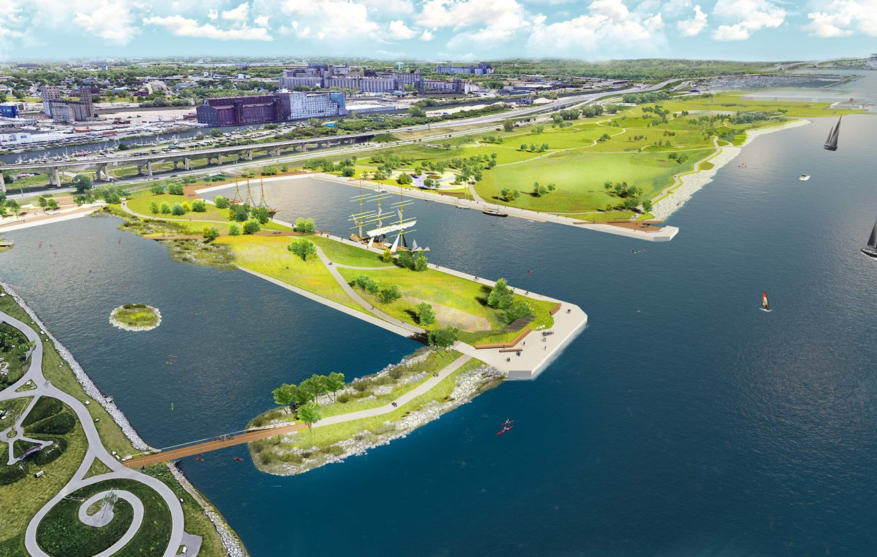Among the visionary developments along Buffalo's waterfront is a planned recreational mecca on nearly 200 acres at the Outer Harbor.