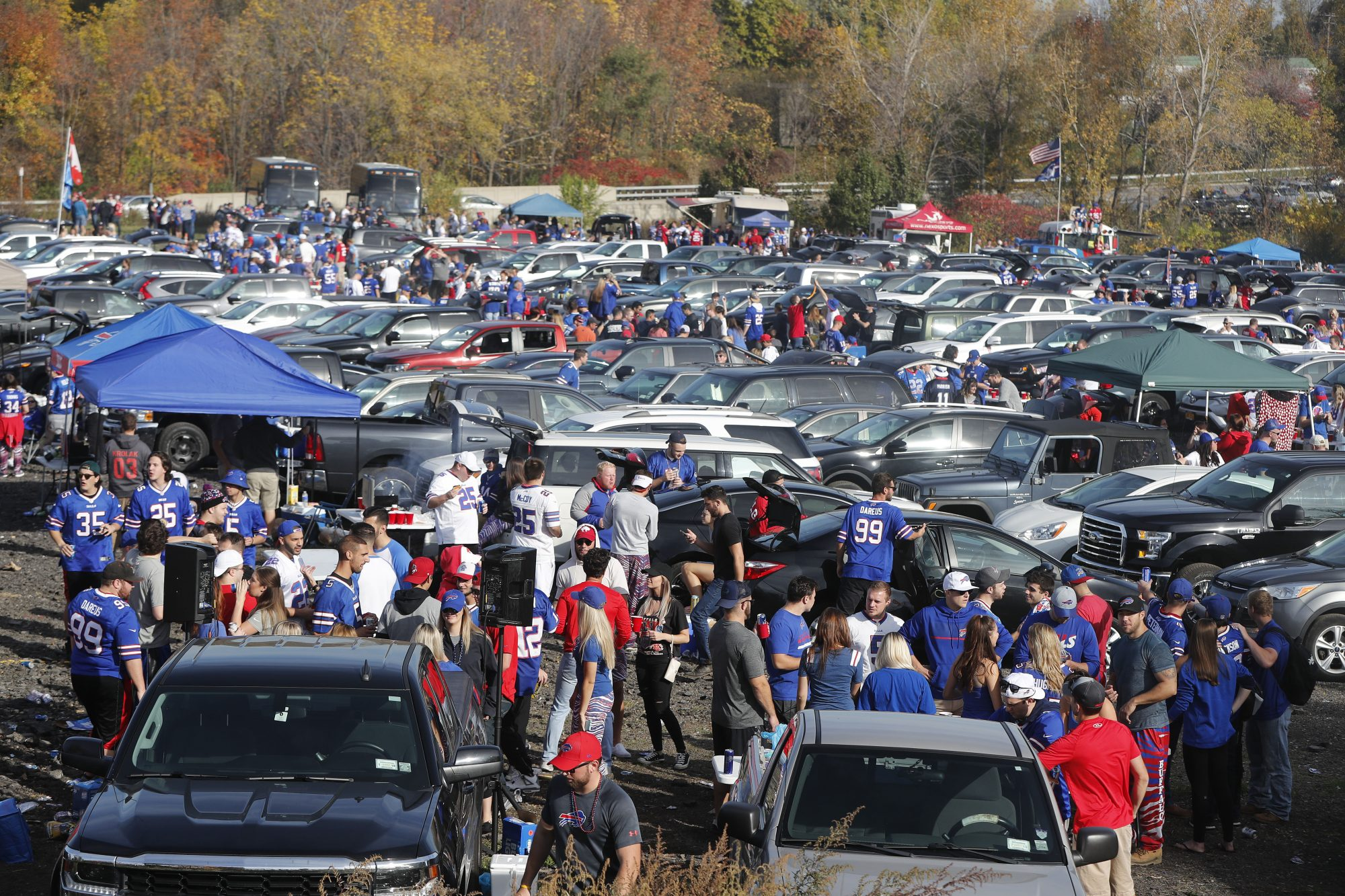 Bills fans traveling by bus to the games at New Era Field who want to tailgate will now be required to do so in a designated area. (Mark Mulville/News file photo)