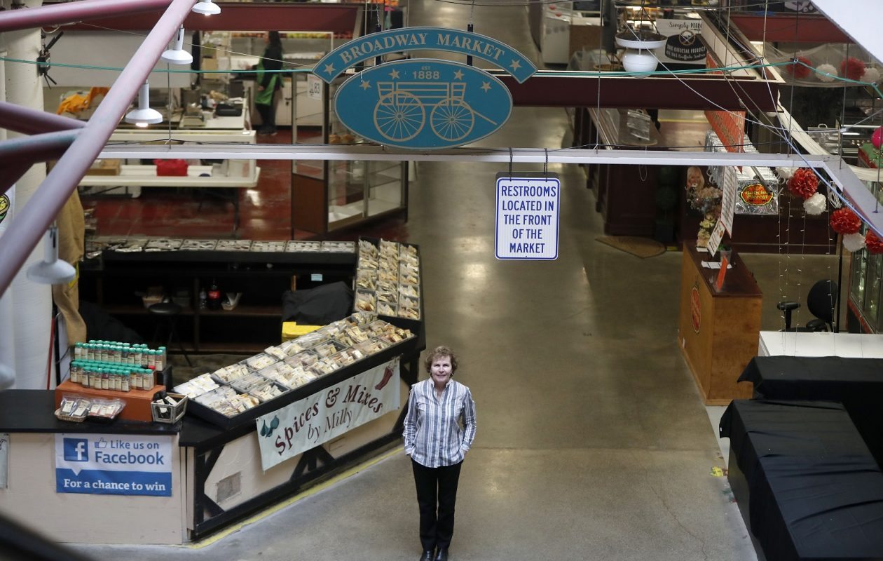 Kathleen Peterson has big plans for the Broadway Market. (Mark Mulville/Buffalo News)