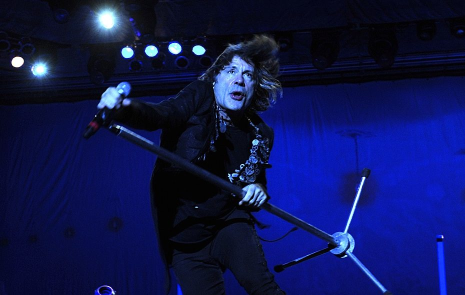 Iron Maiden vocalist Bruce Dickinson was a brilliant ringmaster during the band's show at KeyBank Center. (Getty Images)