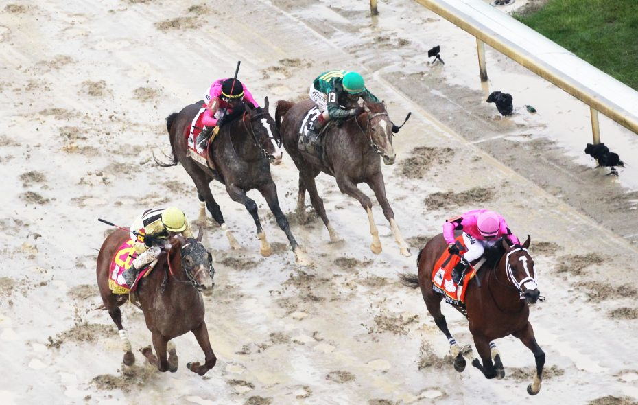 The aerial finish of Kentucky Derby 145. (Photo courtesy of Coady Photo/Churchill Downs)