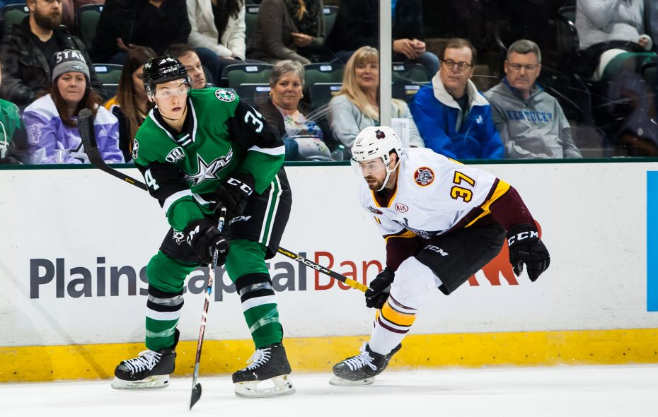 Joseph Ceccioni signed with the Dallas Stars and played for their AHL affiliate after finishing his career at Michigan (Mollie Kendall/Texas Stars)