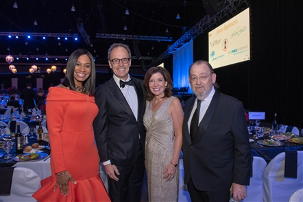 The Erie County Medical Center Foundation honored three healthcare professionals - Maureen Sullivan, Donna Oddo and Thom R. Loree - as well as former Buffalo Bills quarterback Jim Kelly, who earned a Distinguished Service Award at the Springfest Gala, held Saturday, May 11, 2019 in the Buffalo Niagara Convention Center.