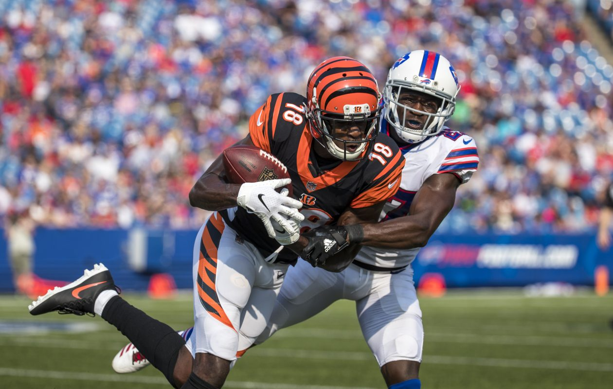 Bills cornerback Tre'Davious White frequently shadowed the opposing team's best receiver, including the Bengals' A.J. Green. (Getty Images)