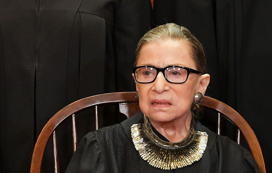 Associate Justice Ruth Bader Ginsburg poses at the Supreme Court on Nov. 30, 2018. (MANDEL NGAN/AFP/Getty Images)