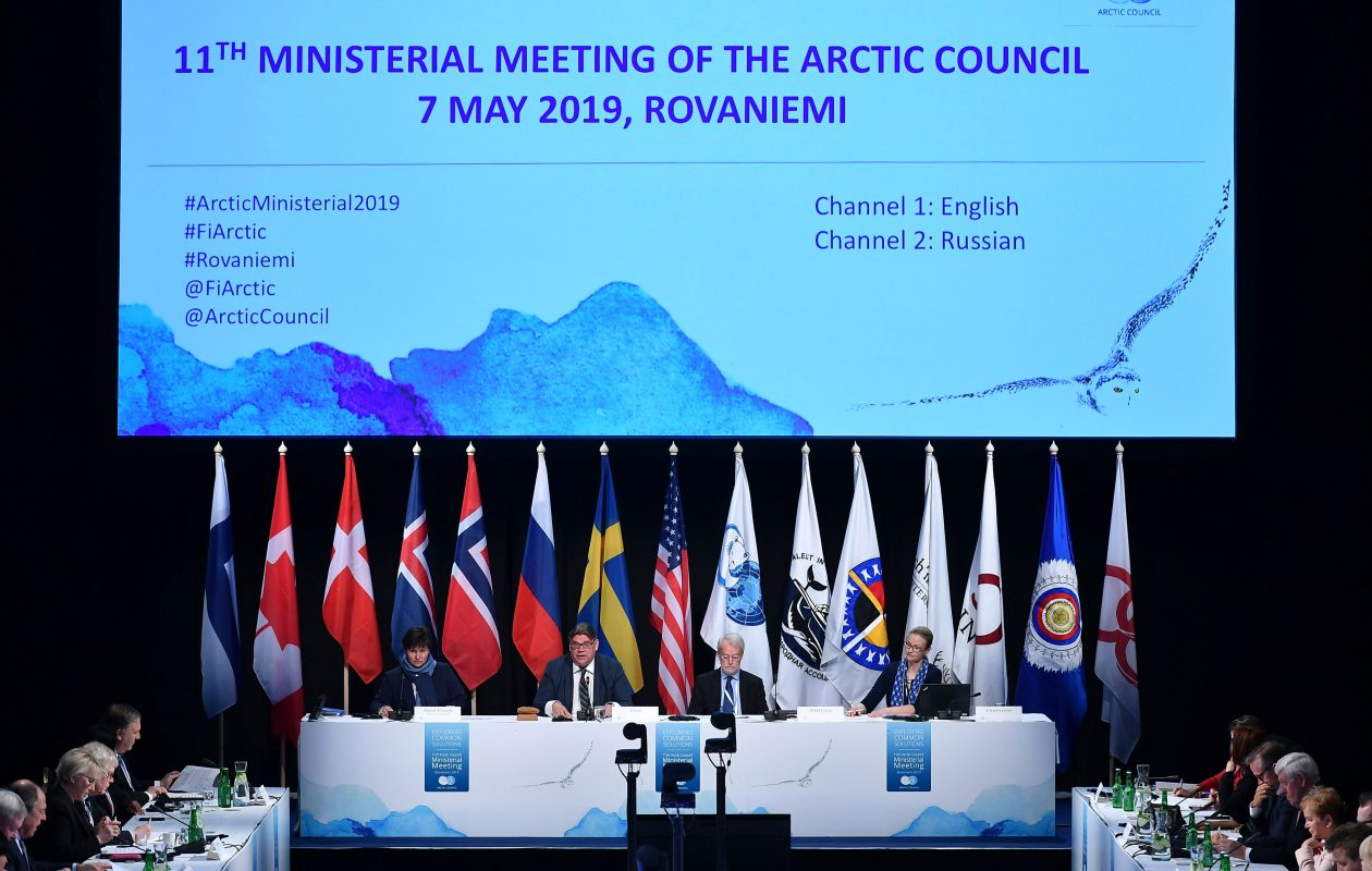 The 11th Ministerial Meeting of the Arctic Council is held in Rovaniemi, Finland, on May 7, 2019. (Mandel Ngan/AFP/Getty Images)