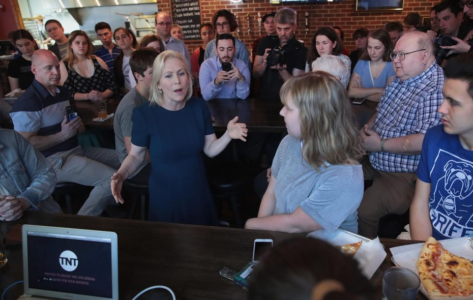 Democratic presidential candidate Sen. Kirsten Gillibrand speaks to guests during a campaign event with Drake University Democrats on April 17, 2019 in Des Moines, Iowa. (Getty Images)