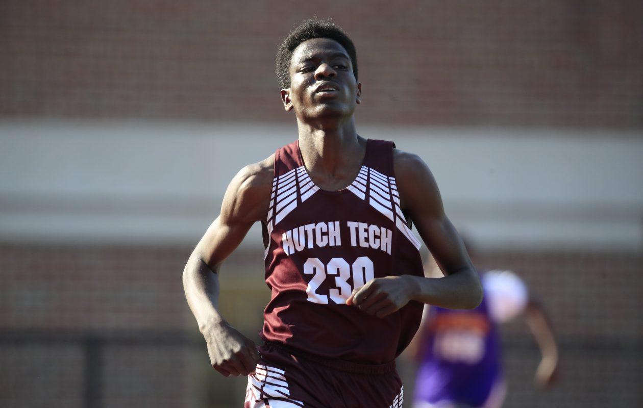 Sembel Koshi from Hutch Tech wins the 1,600-meter run.(Harry Scull Jr./Buffalo News)