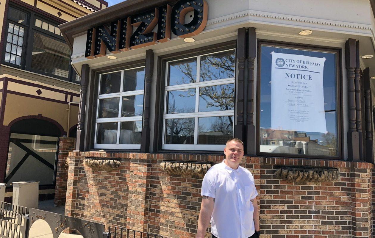 Chef/co-owner Michael Gibney of Inizio, at 534 Elmwood Ave. (Ben Tsujimoto/Buffalo News)