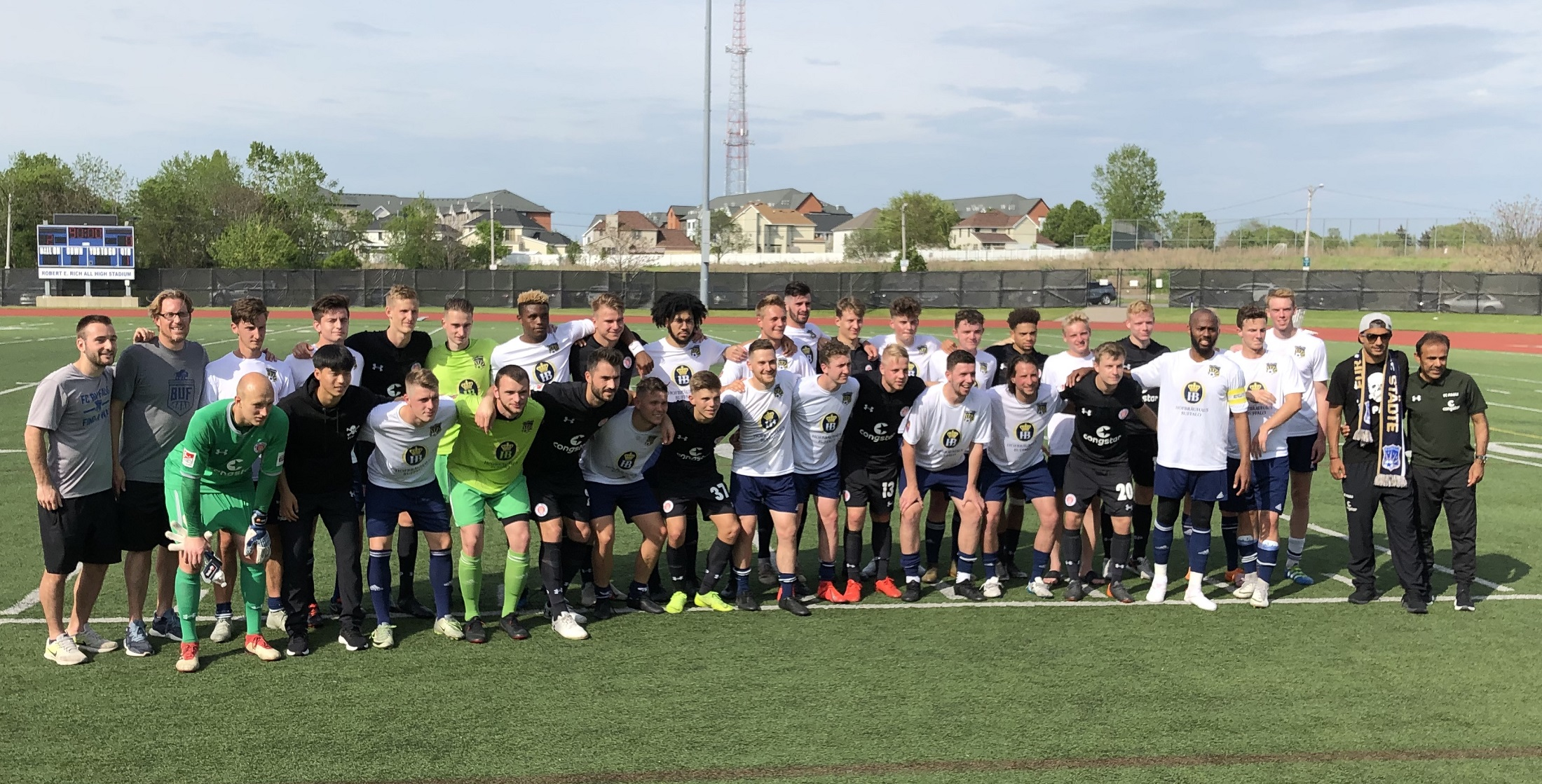 A visit from FC St. Pauli, a German professional club, was the highlight of FC Buffalo's up-and-down season. (Ben Tsujimoto/Buffalo News)