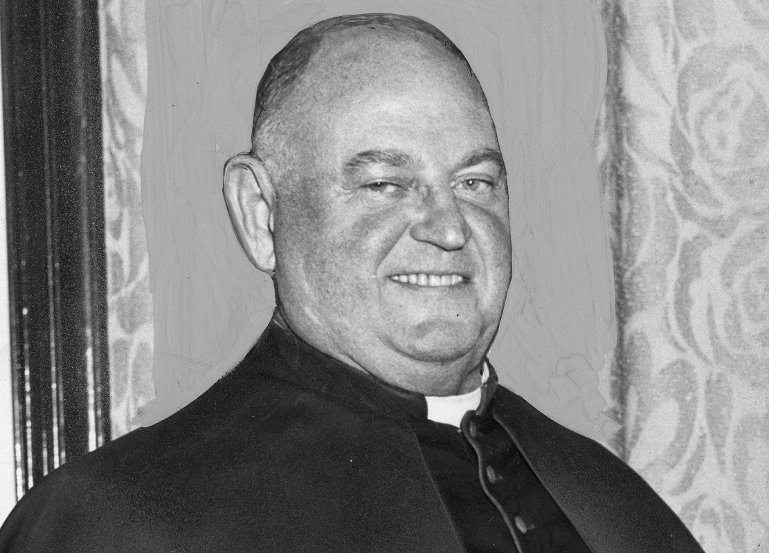 Monsignor Franklin Kelliher, a former boxing champion and professional wrestler, served as an unofficial disciplinarian of priests in the Buffalo Diocese, according to retired Buffalo police officers. (Photo courtesy of the Archives Collection of E.H. Butler Library at Buffalo State College)
