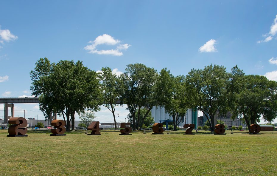 """One through ZERO"" installation on Wilkeson Pointe. (Tom Loonan/Courtesy of Albright-Knox Art Gallery)"
