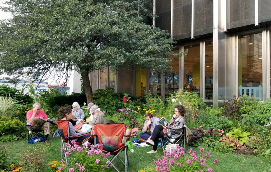 Downtown's new Reading Park opens Saturday, June 22 and includes special programs like Harry Potter Day at noon. (Buffalo & Erie County Public Library)