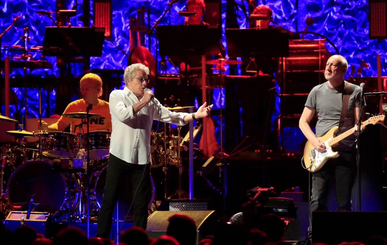 The Who, featuring Roger Daltrey on vocals and Pete Townshend on guitar, perform Thursday at KeyBank Center. (Harry Scull Jr./Buffalo News)