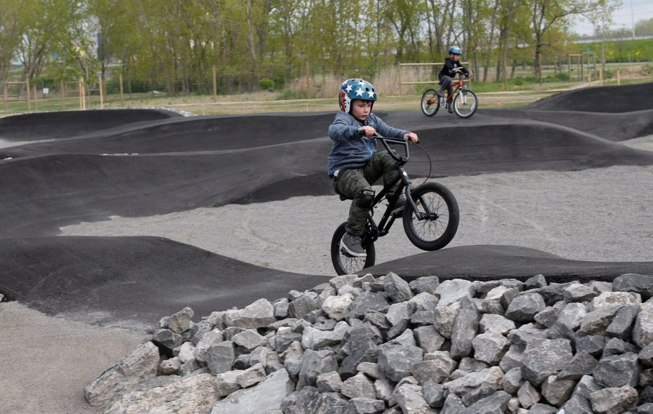 Ramps, tunnels, trails and more: New bike park opens on the Outer Harbor