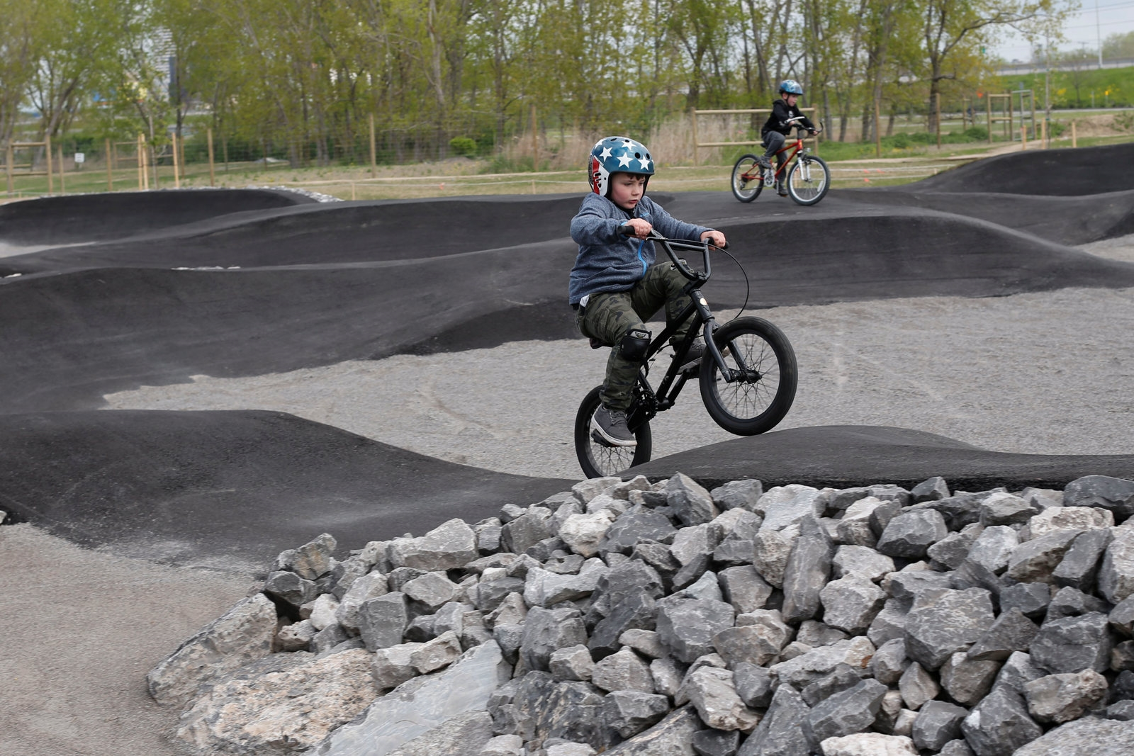Cyclists are already hitting the trails as officials planned to cut the ribbon for the new lakeside bike park on the Outer Harbor on May 24.