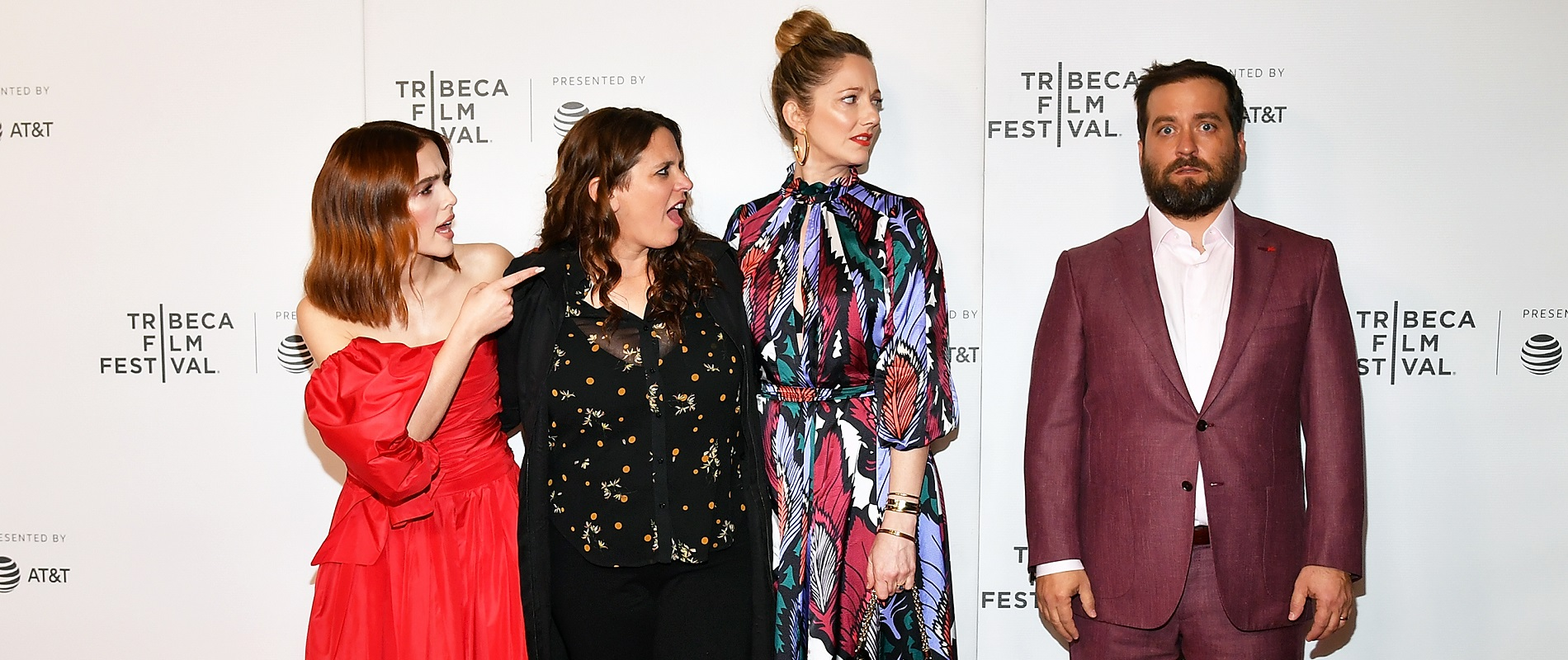 'Buffaloed' star and producer Zoey Deutch, director Tanya Wexler, star Judy Greer and writer and Lockport native Brian Sacca. (Photo by Slaven Vlasic/Getty Images for Tribeca Film Festival)