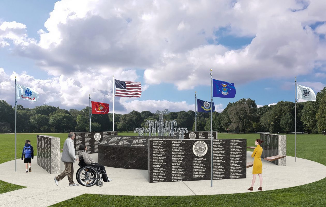 A rendering of the planned Clarence Veterans Memorial. (Contributed photo)