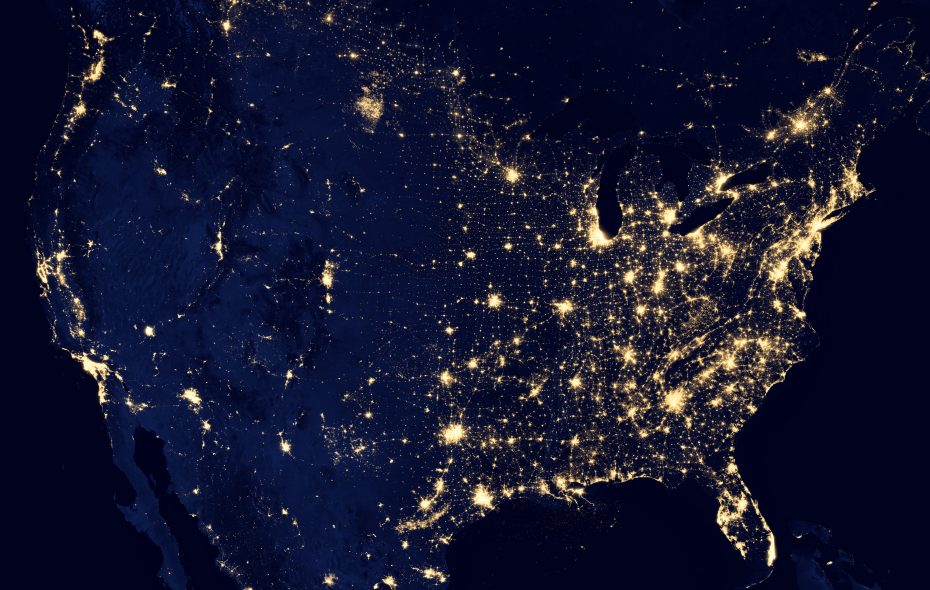 The images of the United States at night are captivating from space, but all those lights have detrimental effects on migratory birds trying to find their way from north to south and back again. (Photo courtesy of NASA)