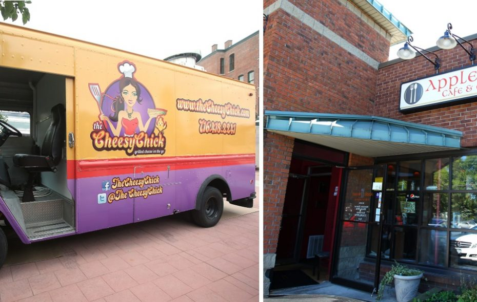 The Cheesy Chick food truck, left, will open inside the former Apple Wood Cafe in Williamsville. (News file photos)