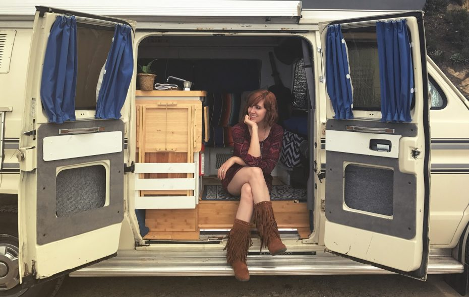 """For songwriter Savannah King, living and travelling in a camper van through the American Southwest has deepend both her art and her experience of life. She said, """"The overall theme of this life is to have less, so you can see and do more."""" (Photo courtesy Savannah King)"""
