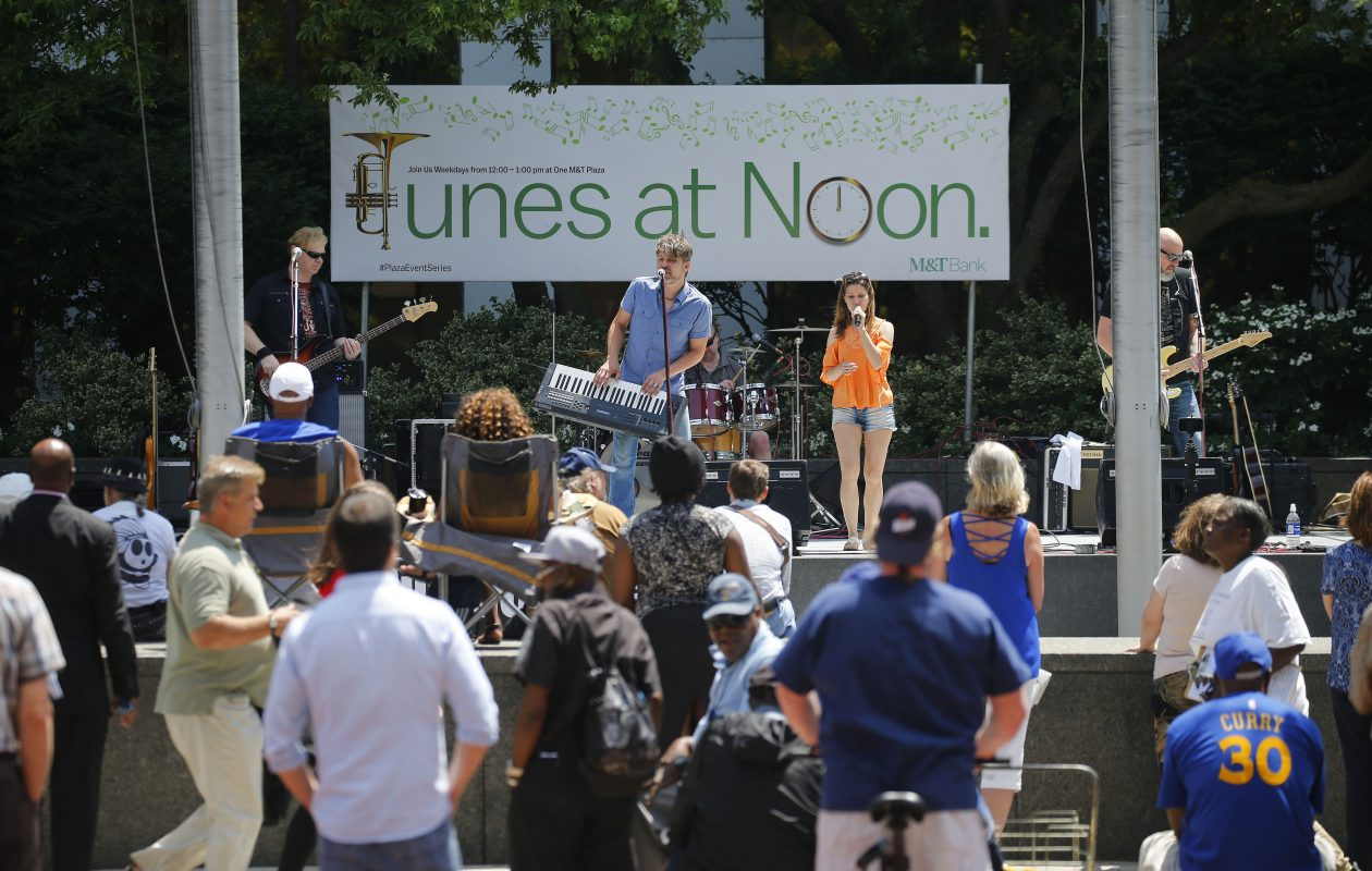 SuperCharger performs at the Plaza Event Series in 2017. (Buffalo News file photo)