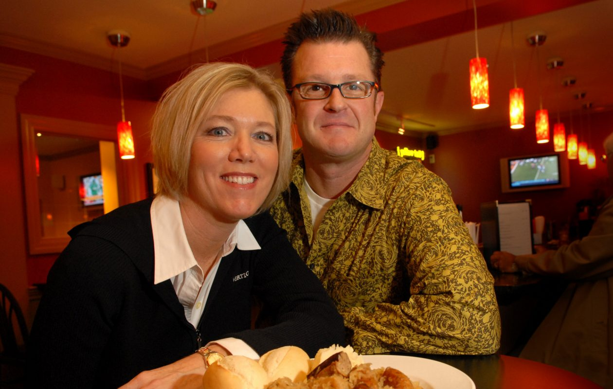 Tom and Donna Pease, owners of the Blue Lantern Lounge in Elma, when they opened the restaurant in 2006. (Derek Gee/Buffalo News file photo)