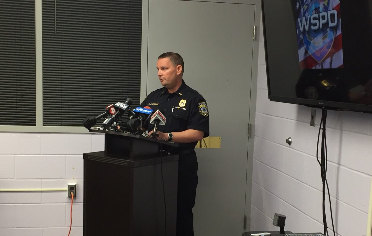 West Seneca Police Lt. James Unger says officers attempted to extinguish the flames without success at the crash scene early Sunday. (Barbara O'Brien/Buffalo News)