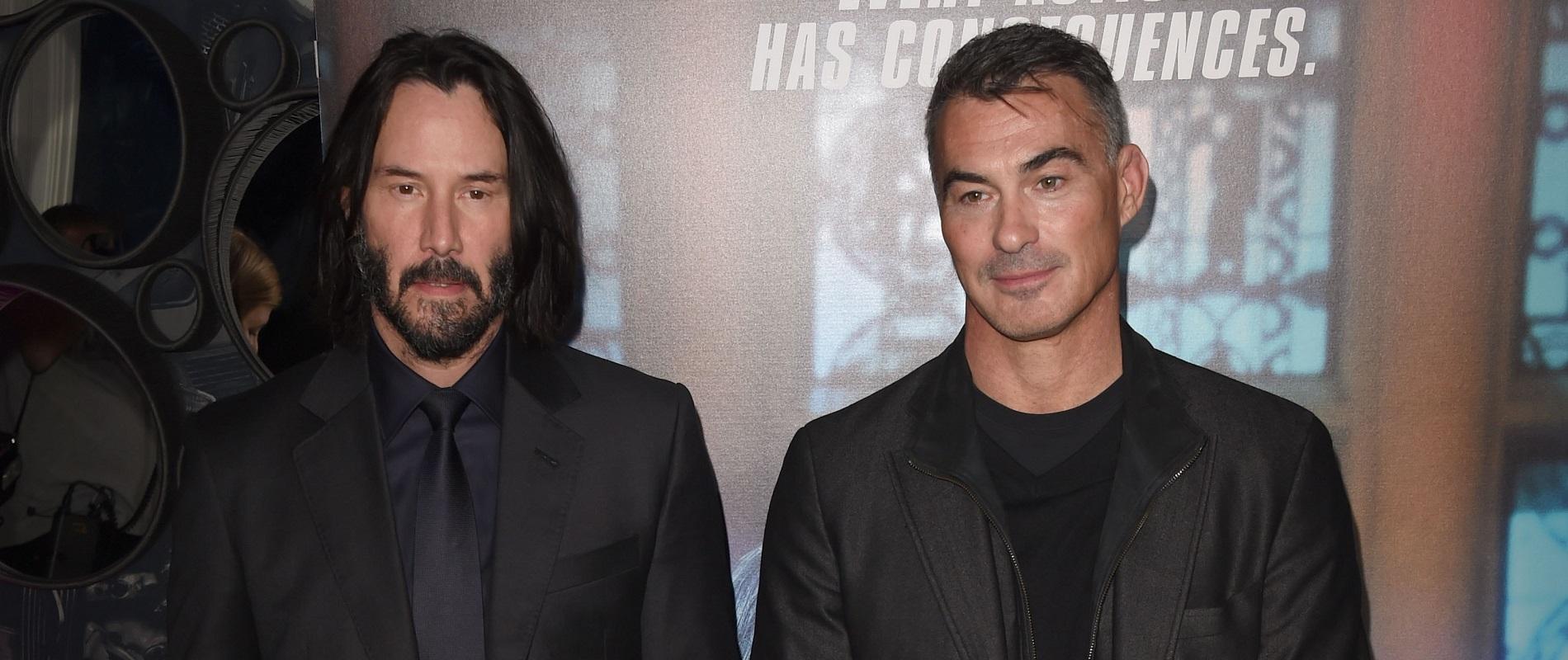 Jeff Simon confesses he is 'inordinately fond of the whole 'John Wick' series from star Keanu Reeves, left, and filmmaker Chad Stahelski. (Photo by Stuart C. Wilson/Getty Images)