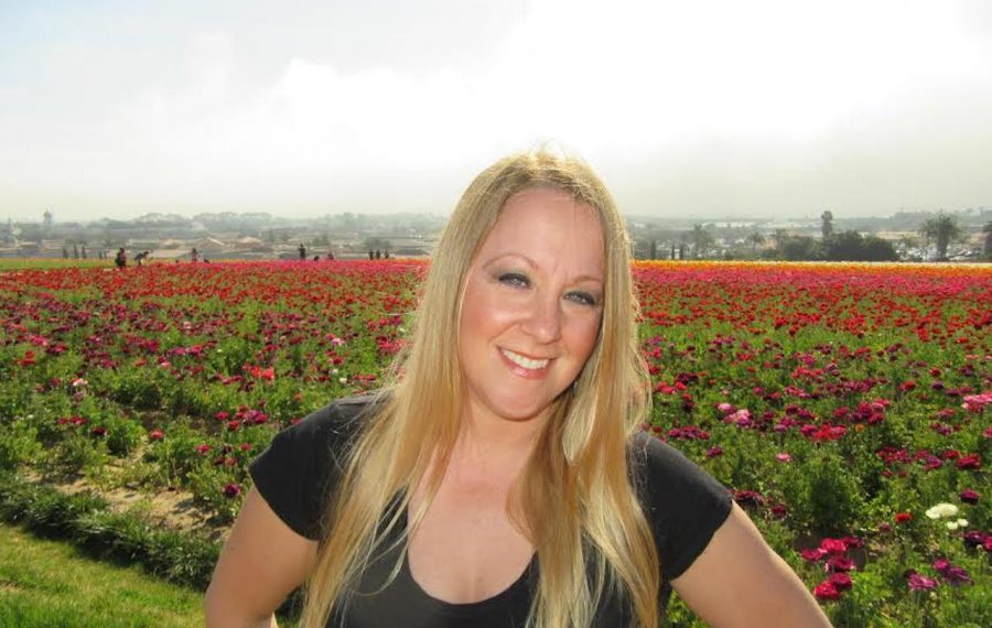 Patti Gray at the Flower Fields in Carlsbad, Calif. (Photo courtesy Patti Gray)