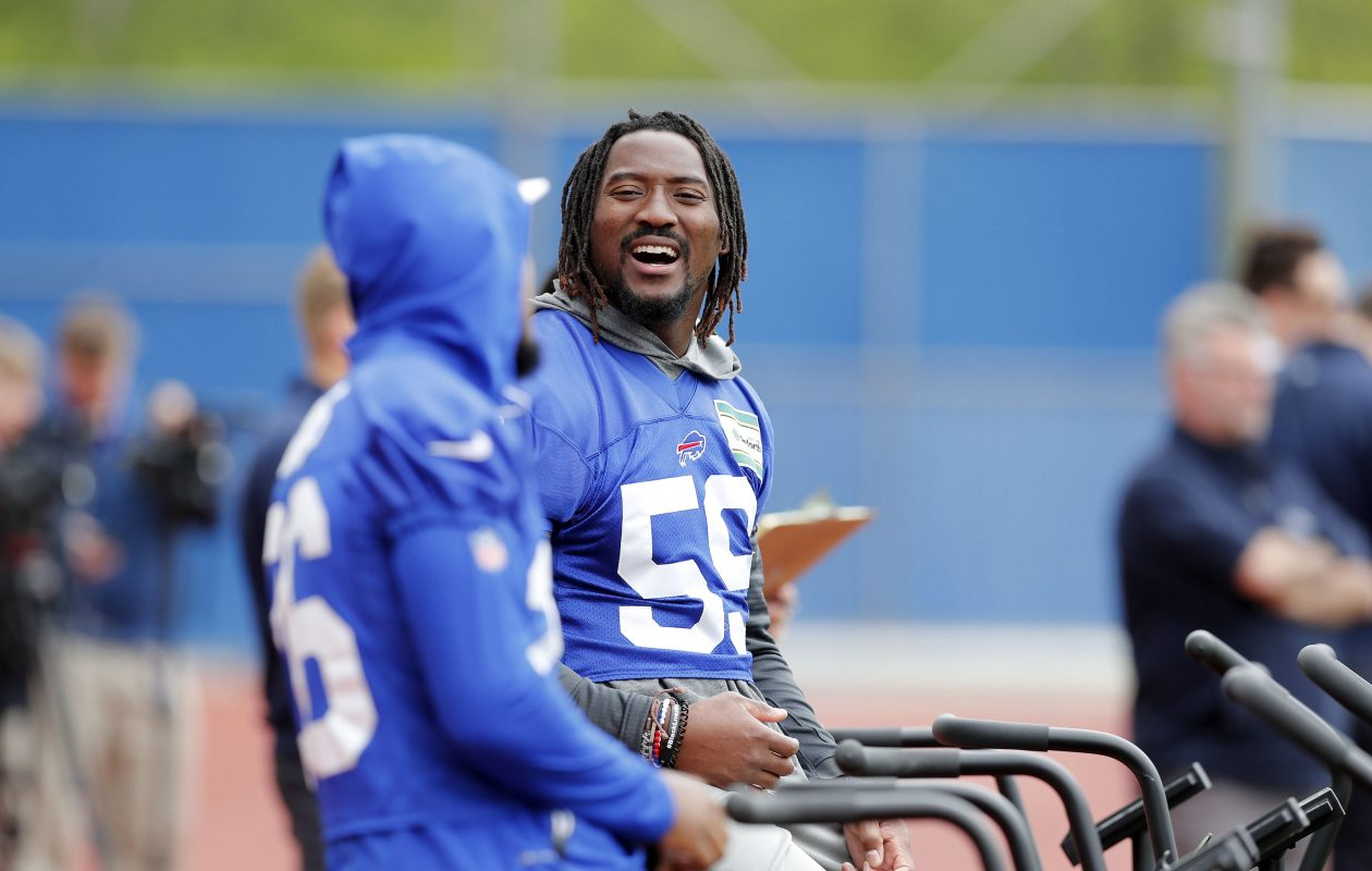The Bills wrapped up mandatory minicamp Thursday with a team-building activity rather than a practice. (Mark Mulville/Buffalo News)