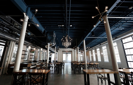 The new Resurgence Brewing Co. will open Saturday, June 15, 2019, at 55 Chicago St. The brewery is part of a $7 million project that pays homage to the E.&B. Holmes Machinery Co., which operated at the Old First Ward site from 1840-2002. The Cooperage complex will include the brewing operation and a new three-story building next door with a distillery and top-floor residential and commercial units. The third building is a rock climbing gym.