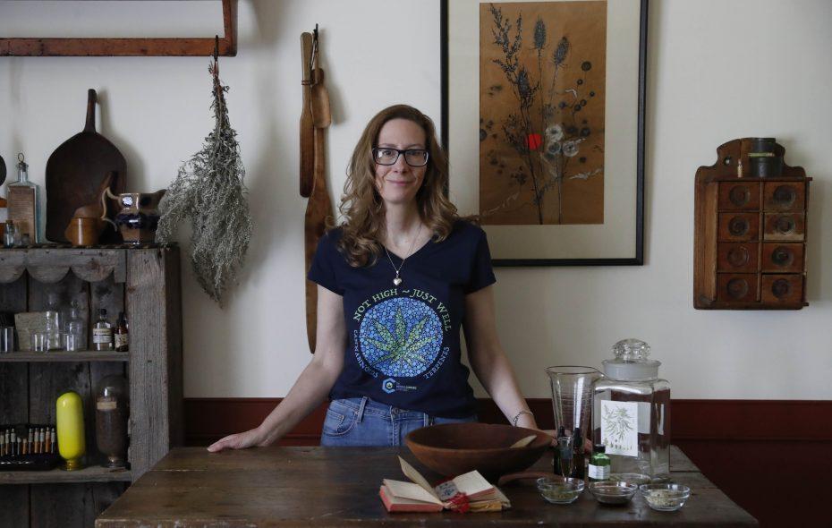 Penelope Crescibene, of East Pembroke, is a medical marijuana advocate who has studied home growing. (Sharon Cantillon/Buffalo News)