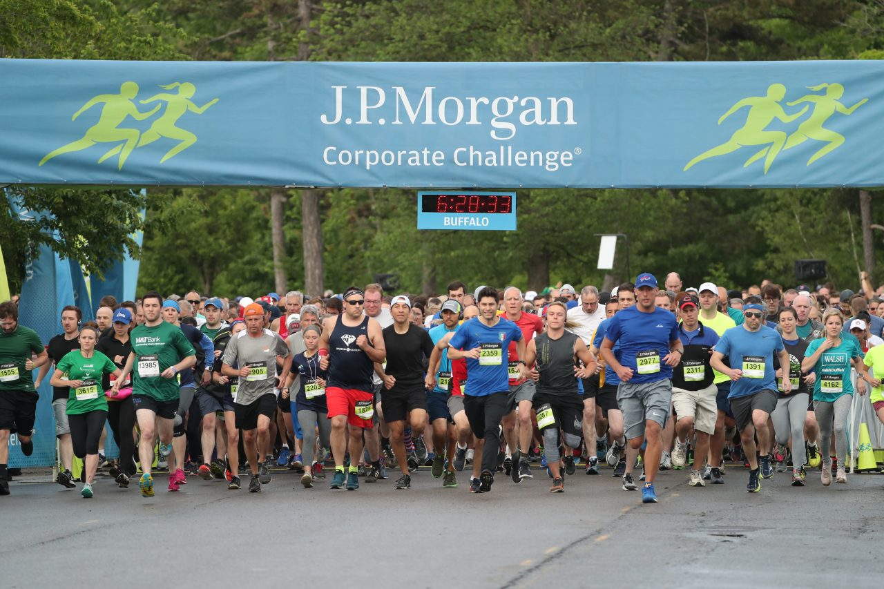More than 13,000 runners from nearly 500 Western New York companies participated in the J.P. Morgan Corporate Challenge at Delaware Park.