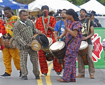 Buffalo's 44th annual Juneteenth Festival got underway Saturday at Martin Luther King Jr. Park with the parade, vendors, dancing, Underground Railroad tours and stages featuring arts and cultural offerings. The festival continues Sunday. Juneteenth, a celebration of African American heritage, is the oldest known observance celebrating the end of slavery in the United States.