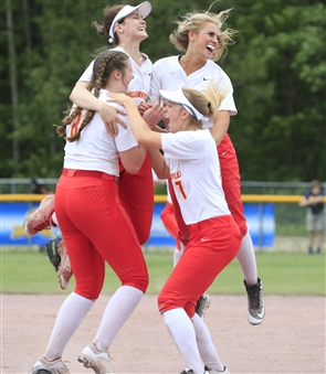 Williamsville East Flames won their first state title by defeating Ballston Spa of Section II, 3-0, Saturday, June 15, 2019, in South Glens Falls.