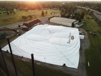 The Paddock Chevrolet Golf Dome, 175 Brompton Road in the Town of Tonawanda was deflated on Wednesday, June 19, 2019. It will be replaced and reopened in late summer. The sections of the dome as well as steel cables will be cut into sections and removed. Foundation work will be done, a new dome will go up and new turf in the miniature golf section and the driving range will be installed with the work being completed in late August to early September. The restaurant and its facilities will remain open throughout the process.