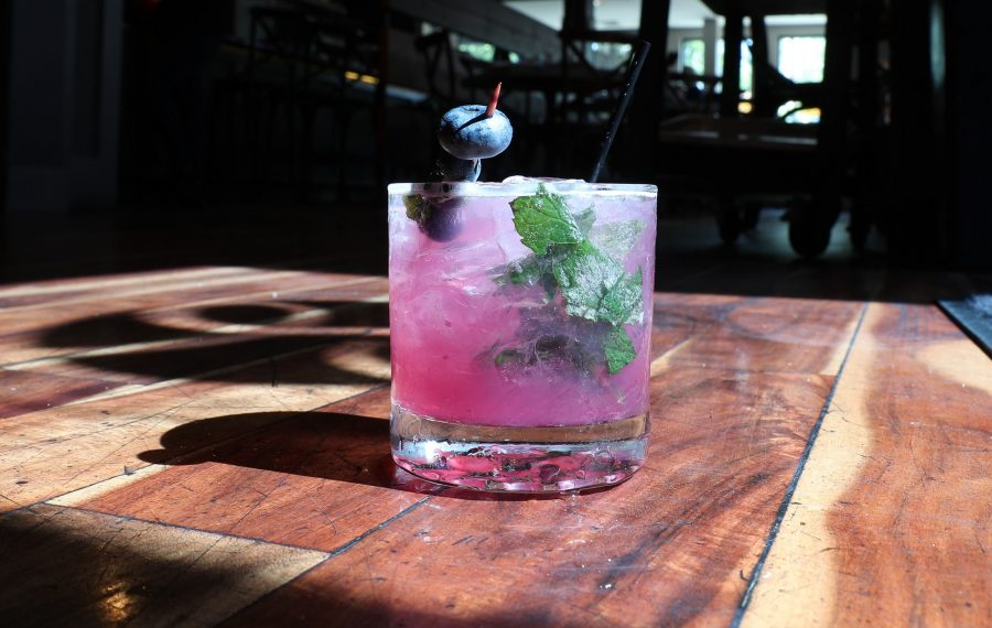 Share Kitchen's Blueberry Smash cocktail is one of several strong choices for summer. (James P. McCoy/Buffalo News)