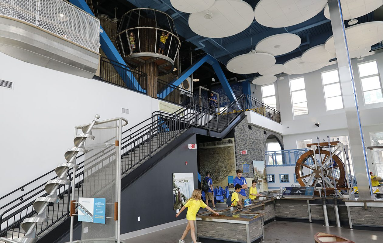 The Moving Water exhibit is one of the interesting attractions at Buffalo's new Explore & More Ralph C. Wilson Jr. Children's Museum, which opened in June at Canalside. (Derek Gee/Buffalo News)