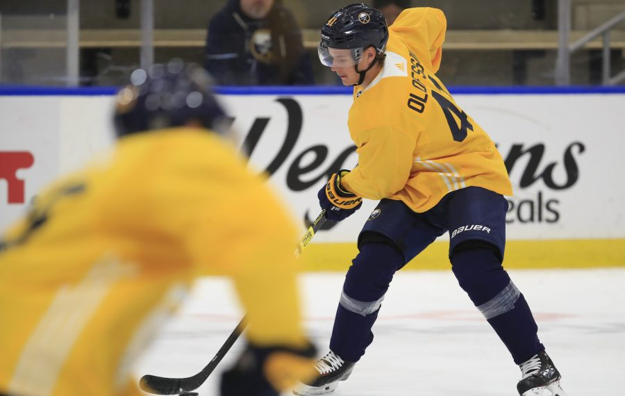 Buffalo Sabres prospect Victor Olofsson during development camp at Harborcenter. (Harry Scull Jr./Buffalo News)