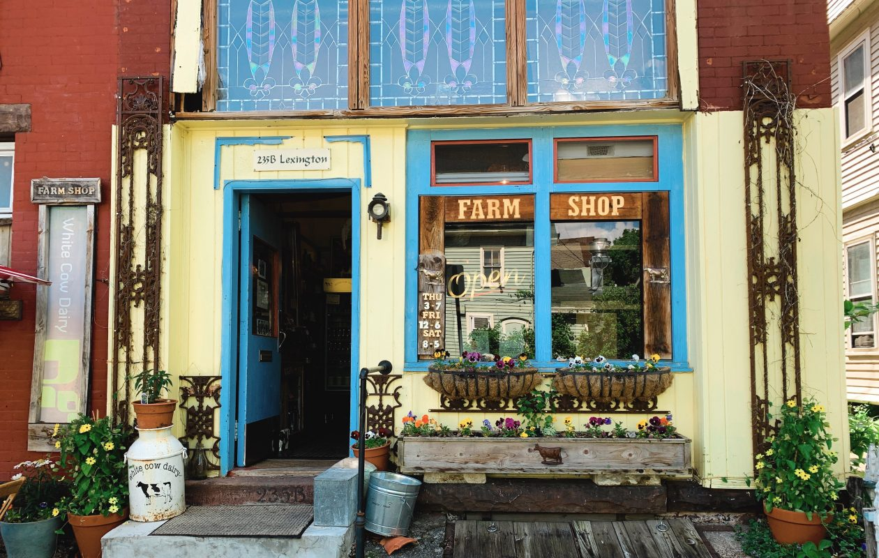 The Farm Shop on Lexington sells White Cow Dairy from East Otto. (Francesca Bond/Buffalo News)