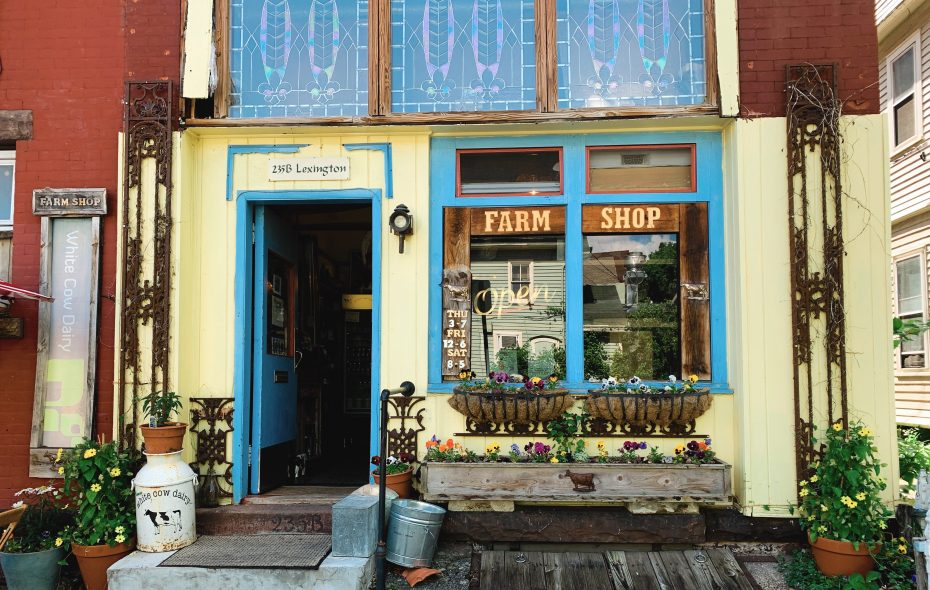 The Farm Shop on Lexington sells White Cow Dairy from East Otto. (Francesca Bond/Buffalo News)