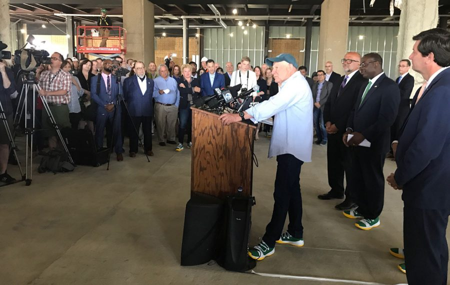 Douglas Jemal speaks at the Thursday morning news conference. (James P. McCoy/Buffalo News)