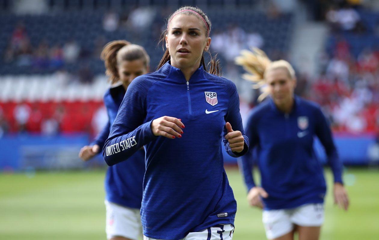 Team USA's Alex Morgan is in contention for the Golden Boot race. (Alex Grimm/Getty Images)