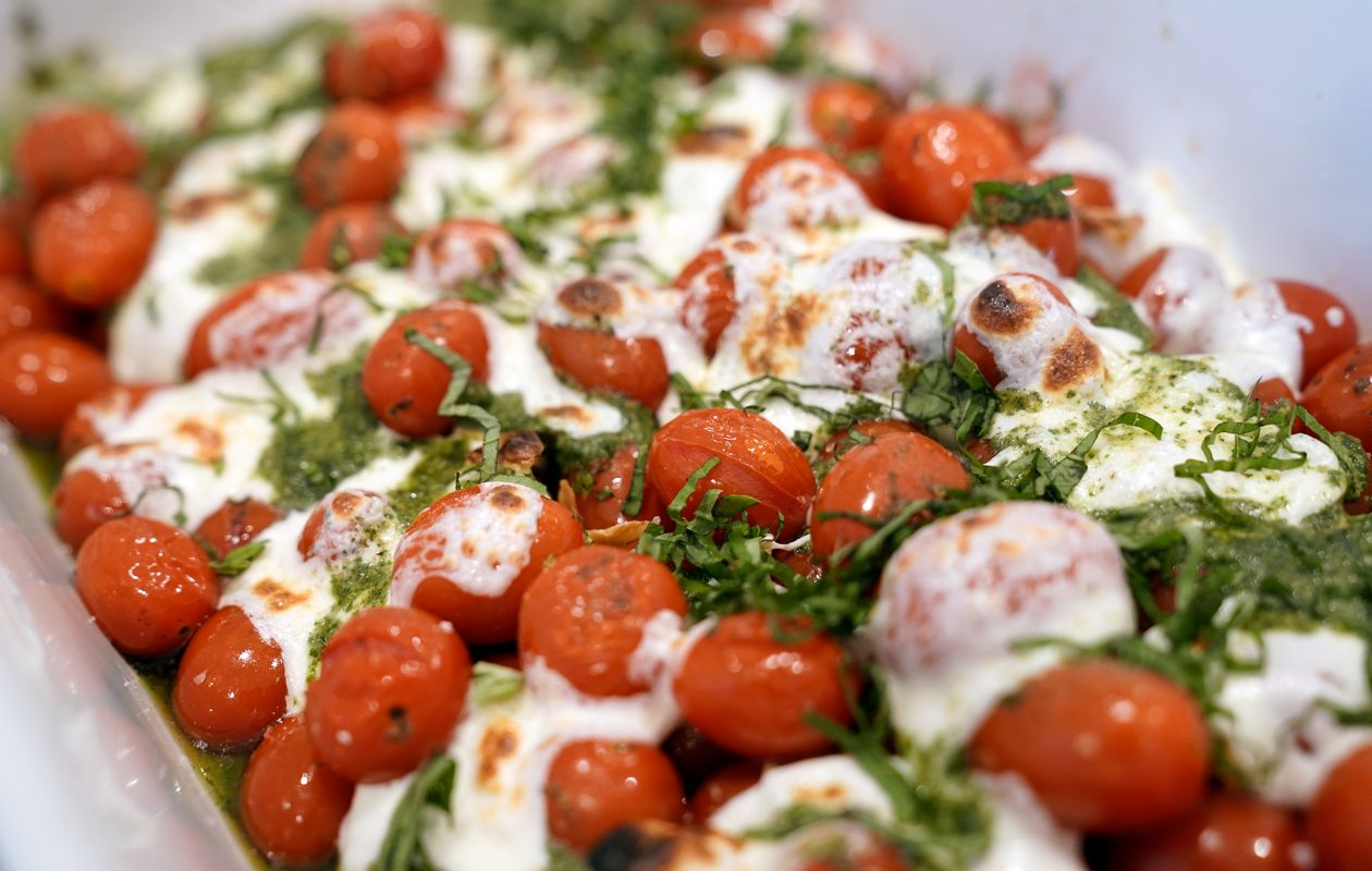 Chef Linh's baked caprese, an easy crowd-pleaser, is best when paired with a loaf of crusty bread. (Dave Jarosz)